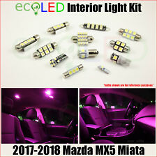 For 2017-2018 Mazda MX5 Miata PINK Interior LED Light Accessories Package Kit 6x