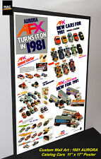 "Custom AFX Wall Art - AURORA ""The AFX 1981 Catalog Cars""  11W x 17T Hi QA POSTER"