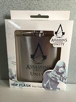BNIB Genuine Assassins Creed Merchandise Boxed Stainless Steel Hip Flask 6oz