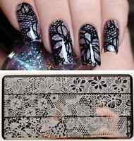 BORN PRETTY Nail Art Stamping Plate Hollow Lace Image Stamp Template BP-L030