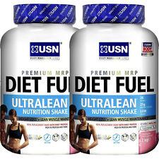 USN Diet Fuel 2kg Ultralean Protein Shake Weight Fat Loss 1kg Chocolate