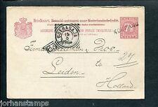 Ned.Indie, briefkaart 1904 naar Leiden met langstempel KOEPANG