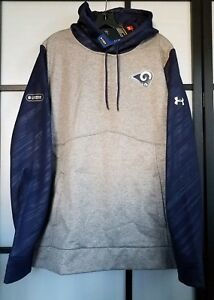 Men's Los Angeles Rams Under Armour Gray/Navy Combine Authentic Novelty Size L