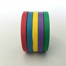 WASHI TAPE THIN SKINNY 5 ROLL SET BOLD PLAINS EACH ROLL 5MM X 10MTRS CRAFT PLAN