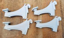 ClosetMaid 2817 ShelfTrack Shoe Rack Brackets  ~ 3-inch ~ White NEW Lot of 4