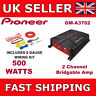Pioneer GM-A3702 Two Channel Amplifier 2 Channel Bridgeable Car Amp 500 Watts