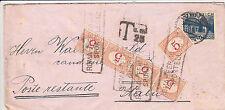 REGNO FERMO DI POSTA-Strisciaquattro 5c-Busta viaggiata Vienna->Roma 11.3.1932