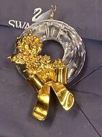 Swarovski Swan Signed Crystal Memories Christmas Wreath Ornament