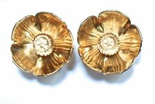 Early Clogau Welsh 9ct Gold Rose & Yellow Gold Buttercup Flower Stud Earrings