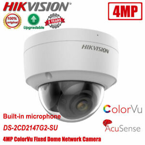 Hikvision DS-2CD2147G2-SU 4MP POE ColorVu Mic Dome Network IP Camera 2.8/4mm