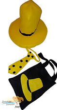 ADULT Size Man with the yellow HAT Tie and Tote Bag Curious George accessory