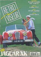 RETROVISEUR n°70  06/1994 AMI6 JAGUAR XK CADILLAC 1941 RENAULT 8 GORDINI NSU1200