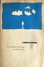 ALFRED T. BARSON A WAY OF SEEING A CRITICAL STUDY OF JAMES AGEE MASSACHUSETTS 72