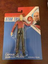 "Star Trek Captain Jean-Luc Picard 7"" Inch Bendable Figure Brand New Free Ship!"