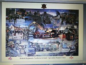 British Regiments Northern Ireland Operation Banner tours print