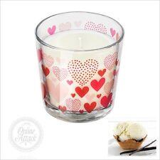 SINNLIG Ikea Duft Kerze im Glas 7,5cm Vanille natur HERZEN LOVE LIMITED EDT