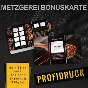 Metzgerei Bonuskarten Treuekarten Rabattkarten Fleischer Bonuskarte Metzger