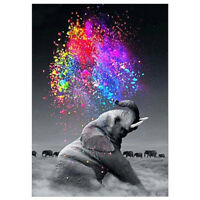 5D Full Drill Diamond Painting Embroidery Cross Kits Mural A cool elephant  1pc