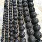 DIY Jewellery Gift Accessories Black Natural Volcanic Lava Rock Stone Beads
