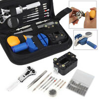 399Pcs Watch Repair Tool Kit Watch Back Case Remover Opener Pin Spring Bar & Bag
