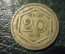 MONETA DEL REGNO D'ITALIA 20 CENT. ESAGONO DEL 1918  - (M-5-11)
