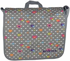 Dickies Messenger Bag Gray With Hearts School, Work, Or Diaper Bag New With Tags
