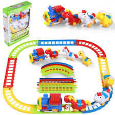 12 Pcs Musical Animal Friends Train And Track Toy Play Set For Xmas Kids Gift
