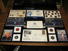Junk Drawer Coin Lot 2003 Proof Set SILVER COINS 1st Day WWII OPA Mint Coins