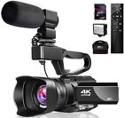 Best Video Cameras - Video Camera 4K Camcorder with Microphone 48MP Vlogging Review
