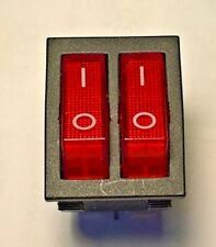 Interruptor doble iluminada a 15 amperios a 250 Voltios. Calentador, Freidora, delongi