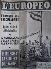L' EUROPEO n°35 1954 Primi modelli di Christian Dior - Arnaldo Graziosi  [C77]
