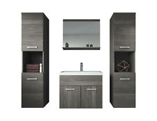 Badezimmer Badmöbel set Montreal XL 60 cm Waschbecken Hochschrank Waschtisch