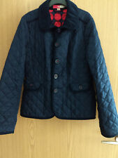 Boden Casual Lightly Padded Jacket – Navy Blue with Red Spotted Lining – Size 6