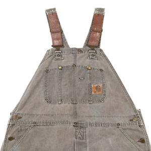 CARHARTT Workwear Dungarees | 38 x 34 | Bib Canvas Overalls Vintage Duck