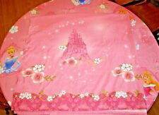 Disney Royal Princess Dreams Castles Pink Twin Flat Sheet & Fitted Sheet