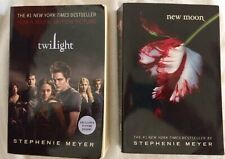 Twilight And New Moon by Stephanie Meyer Used Book Lot Of 2 New York Best Seller