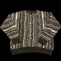 Croft & Barrow Biggie Cosby Vintage 90's Textured Knit Sweater Men's Large