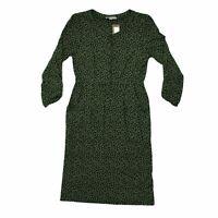 White Stuff Women's Midi Dress 6 Green, Blend - viscose, other