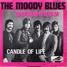 """MOODY BLUES """"QUESTION"""" BEL 1971 W/PS"""