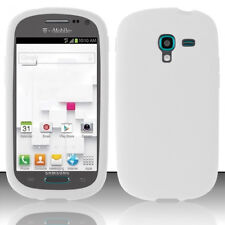 For Samsung Galaxy Exhibit T599 Rubber SILICONE Skin Case Phone Cover White