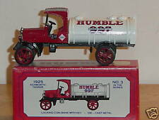 ERTL `93 HUMBLE KENWORTH TANKER LOCKING COIN BANK MINT