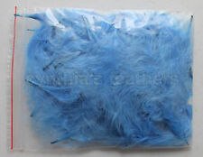 """8g periwinkle 1-3"""" Turkey Marabou Feathers for crafting, 50-70 pieces"""