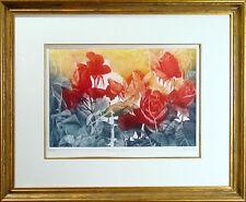 "GH G H Rothe ""Burning Roses"" RARE Signed & Numbered Art Mezzotint MAKE AN OFFER!"