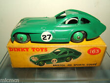 Dinky toys modèle No.163 bristol 450 coupé de sport vn mib