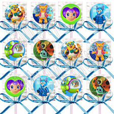 Disney Jr. SPECIAL AGENT OSO Lollipops w/ Blue Bow Ribbons Party Favors -12 pcs