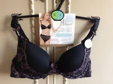 MARKS & SPENCER Adores T-Shirt Bra 34A black full cup with lace New