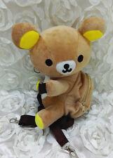 Cute Rilakkuma Plush Shoulder Messenger Bag Brown Bear Crossbody Bag Kids Gift
