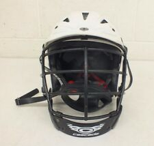 Cascade Lacrosse Helmet w/Cage & Chin Strap White Size Small Fast Shipping Look