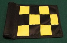 "PUTTING GREEN FLAG -  BLACK & YELLOW CHECKERED - SIZE 6""X8"""