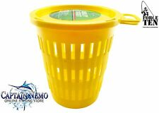 BERLEY BUCKET WITH SCREW TOP LID BERLEY BAIT CAGE BURLEY FORCE TEN TACKLE M8669